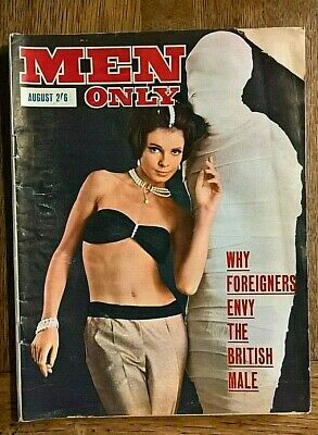 "Vintage August 1964 copy of "" Men Only "" Men's Glamour Pin up Magazine"