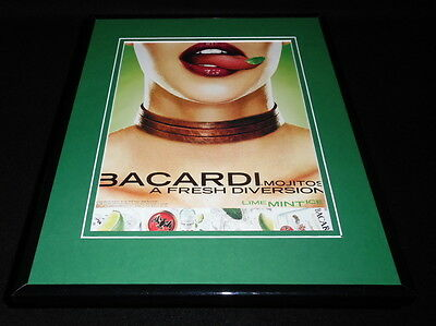 2002 Bacardi Mojitos Framed 11x14 ORIGINAL Advertisement