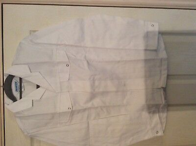"Alexandra white Lab / catering ect L/S jacket  F106 34.5"" chest"