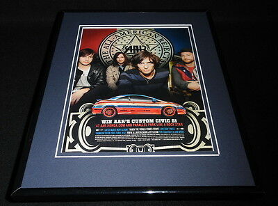 All American Rejects / Honda Civic 2009 Framed 11x14 ORIGINAL Advertisement