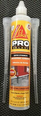 SIKA 112718 PRO-SELECT ANCHORFIX-2 ANCHORING ADHESIVE 2-COMPONENT 10.1 Oz NEW