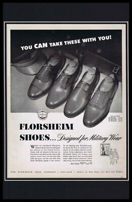 1937 Florsheim Shoes Framed 11x17 ORIGINAL Vintage Advertising Poster