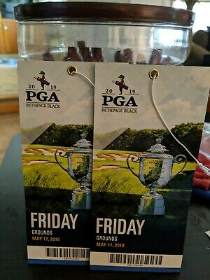 2019 PGA Championship Tickets for Friday Competition Grounds Pass 2 tickets