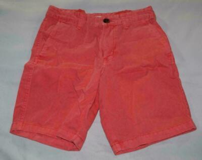 31dd461831949 Boys Cat & Jack Target Coral Red Orange Chino Shorts Flat Front Cotton  Casual 10