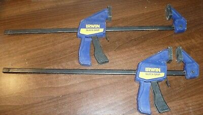 """2 x Irwin Quick-Grip Quick Clamps will clamp 13"""" 325mm"""