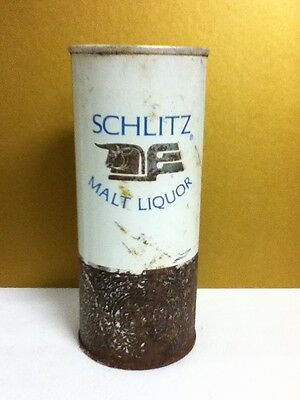 "Schlitz malt liquor metal pull top old beer can 1965 16 oz. 6.25""  Milwaukee J3"