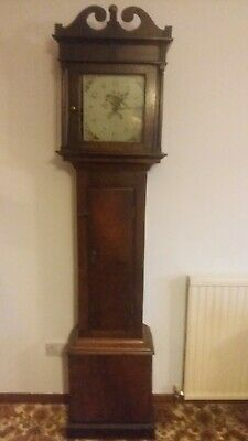 Antique longcase grandfather clock circa 1803