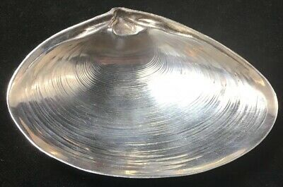 """Sterling Silver Clam Shell Form Dish By Wallace 3 1/2"""" # 4020"""
