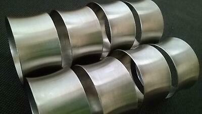 8 x Old Hall Vintage Stainless Steel Round Napkin Rings