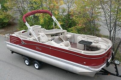 New-2585 Cascade Tahoe cruise pontoon boat 115 mercury and trailer