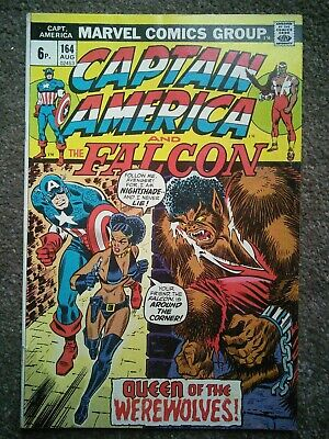 Captain America #164 : 1st appearance nightshade!! classic bronze age !