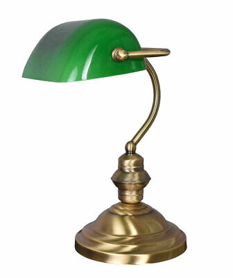 Bankers Lamp Green Desk Lamp Art Nouveau Light Bankers Lamp Table Lamp