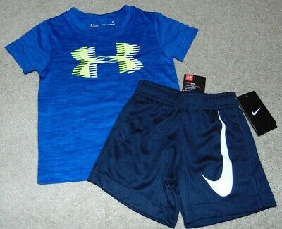 ~NWT Boys UNDER ARMOUR & NIKE Outfit! Size 2T Cute:)!