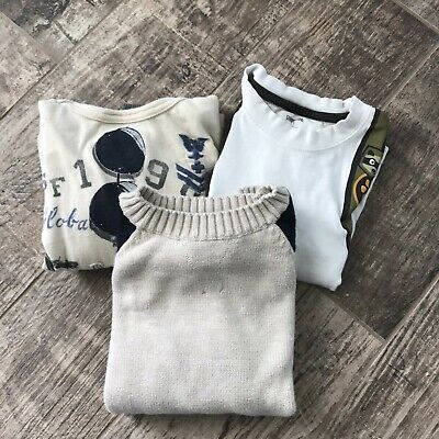 Gymboree Baby Gap Boys Size 3 Tops Long Sleeve Lot of 3 Hoodie Sweater T-Shirt