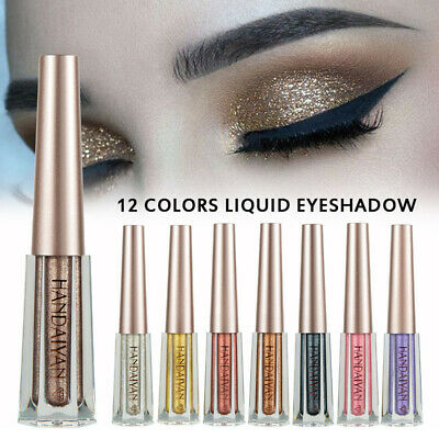12 Colors Liquid Eyeshadow Wedding Long Lasting Glitter Waterproof Eyeliner