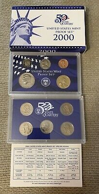 2000-S 10 Coin Proof Set Original Government Packaging W/COA