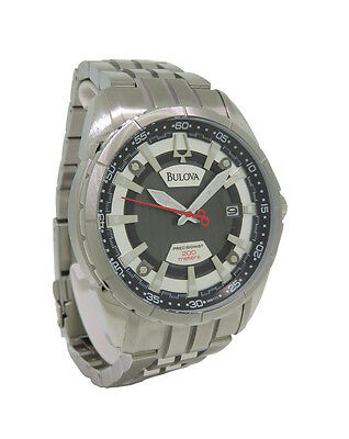 Bulova Precisionist 96B172 Men's Round Analog Date Stainless Steel Watch