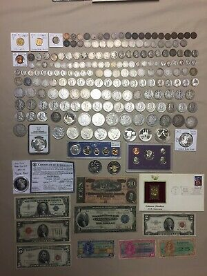 US Coin/Paper Money Lot - Gold, Silver - Rare Key Dates