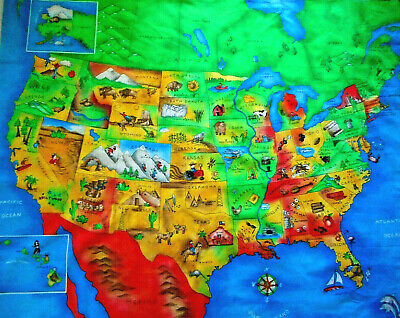 UNITED STATES MAP with Capitals USA Geography School Kids ...