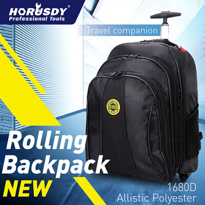 "20"" Travel Laptop Backpack Business Luggage wheel Rolling Pull Rod Large CarryOn"