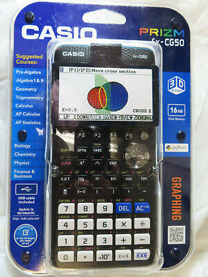 Casio Prizm Fx-Cg50 3-D Color Display Graphing Calculator Brand New, Sealed