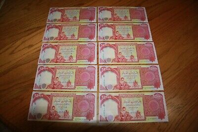 250,000 IQD (10x) 25,000 IRAQI DINAR Notes - UNCIRC & AUTHENTIC FAST DELIVERY 2