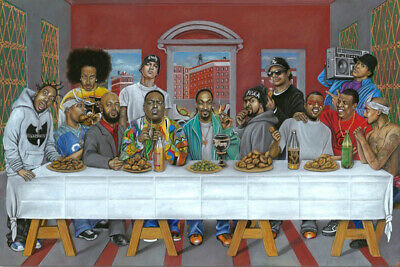 ZT752 Hip Hop Music Last Supper 2pac Tupac Biggie Smalls Notorious Poster Decor