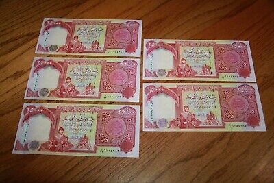 125,000 IQD - (5x) 25,000 IRAQI DINAR Notes - AUTHENTIC UNCIRC - FAST DELIVERY