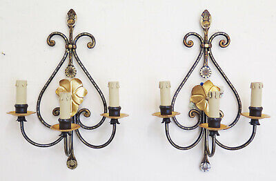 Couple Wall Light Vintage Wrought Iron Lamps Wall Chandelier Ch15