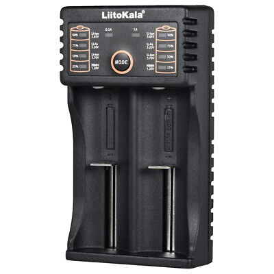 2 Slots LCD Smart Battery Charger for Rechargeable Batteries 18650