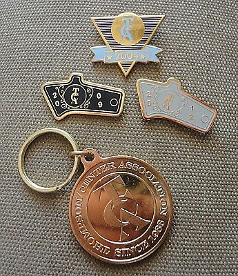 3 THOMPSON CENTER ASSOCIATIONHat Pin 2004 2009 2012 + 25th Anniversary KeyChain