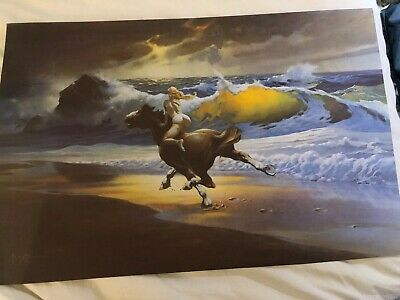 Frank Frazetta's Death Dealer 24 x 36 inch Fantasy Art Poster