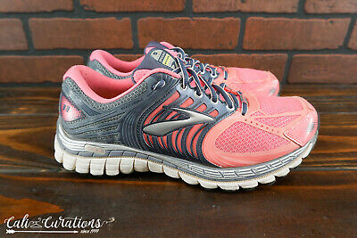 dc570f07053 VGC! BROOKS GLYCERIN 11 Womens Size 9.5 Running Shoes Pink Gray ...