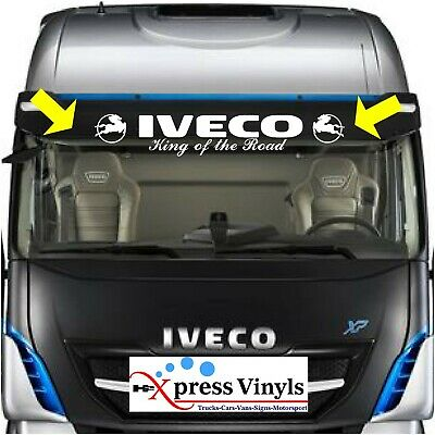 "Iveco windscreen decal ""King of the road"" truck graphic sticker"