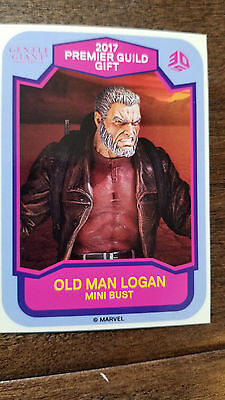 2017 Sdcc Exclusive Gentle Giant Marvel Old Man Logan Wolverine Promo Carta