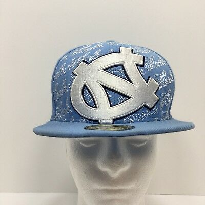 online store bb8c0 5c235 New Era 59Fifty North Carolina Tar Heels Fitted 7-3 8 Bl Cap Hat