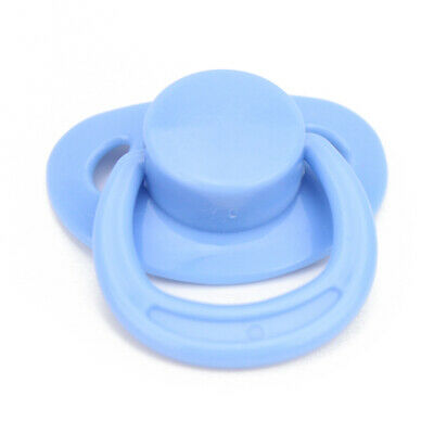 Blue Dummy Pacifier For Reborn Baby Dolls With Internal Magnetic