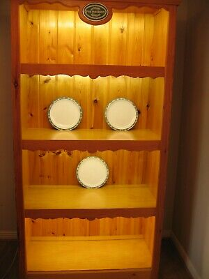 Large Solid Wood Display Unit With Shelving & Lights Retail Shop