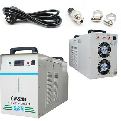220V CW-5200DG Industrial Water Chiller for One 130W/150W CO2 Glass Laser DHL