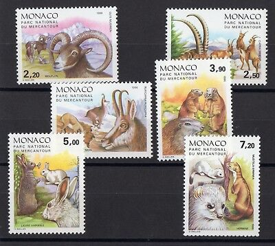 "Monaco: Serie Complete De 6 Timbres Theme ""Animaux"" Neuf** N°1522/1527 C: 17,50€"