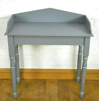 Antique grey painted pine washstand / console table / hall table