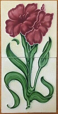 TR Boote Antique Tile Set Art Nouuveau Vintage Rare Collectible Majolica England