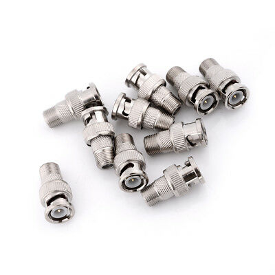 10pcs BNC Male Plug to F Female Jack Adapter Coax Connector Coupler 50 Ohm、2 CP