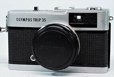 Vintage Olympus Trip 35 Compact, G/W/Order. Pouch. Chrome Button.