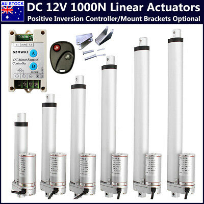 AU 1000N 14mm/s 12V Linear Actuator Motor Controler Electric Lift Auto Door Open