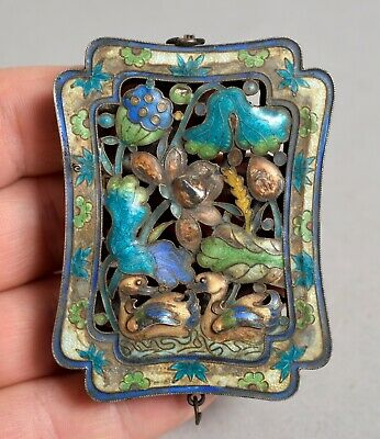 Fine Quality Unusual Antique Chinese White Metal & Enamel Box, 'silver'