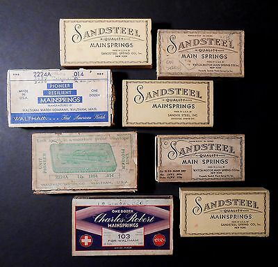 Antique Waltham and other Mainspring Boxes 8 Empty