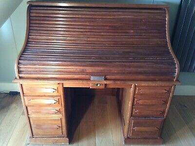 Victorian Large Roll Top Desk Angus Of London