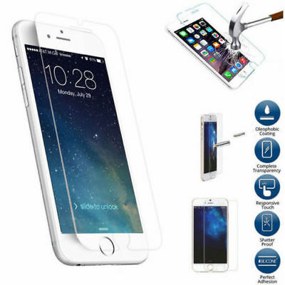 Hq Premium Real Tempered Glass Screen Protector For Iphone Se 5S 5C 5 Case Clear