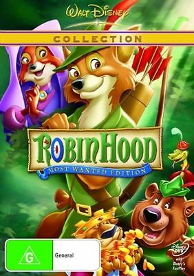 Robin Hood - Disney (DVD, 2007) Most Wanted Edition Brand New & Sealed Region 4